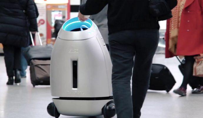 B.A.R.Y.L, la poubelle intelligente en gare d'Angers