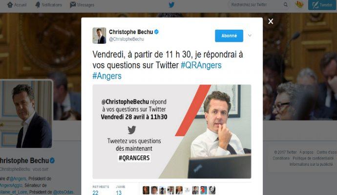 Le maire d'Angers répondra aux angevins sur Twitter ce vendredi