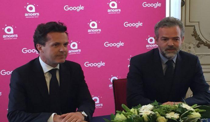 La Ville d'Angers et Google France signent un partenariat inédit