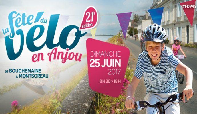 Fête du vélo en Anjou ce dimanche 25 juin