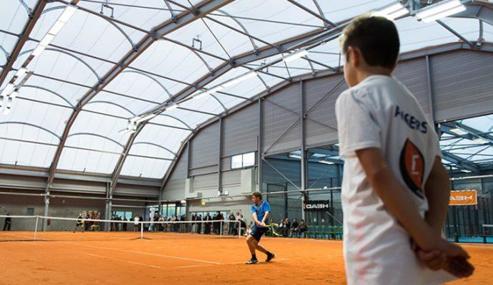 La halle de tennis « Court central La Baumette » a été inaugurée