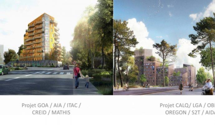 Deux projets pour une tour en bois à Belle-Beille