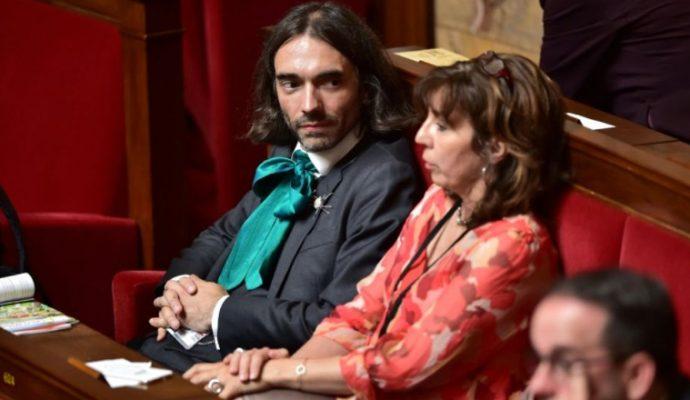 Les députés Cédric Villani et François de Rugy à Angers le 1er décembre