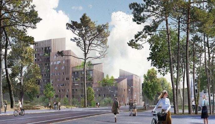 «Les Bois d'Angers» : un immeuble en bois de dix étages à Belle-Beille