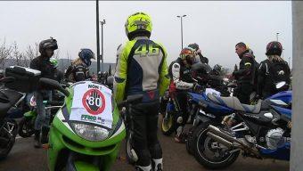 Une manifestation des motards en colère le samedi 17 février