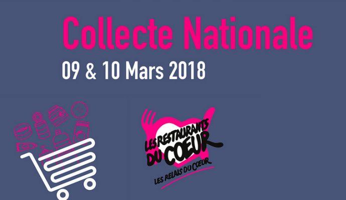 Collecte Nationale des restos du cœur les 9 et 10 mars