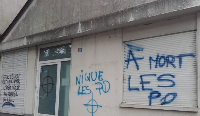 Des tags homophobes sur le local de l'association LGBT Quazar