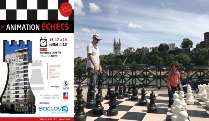 Des jeux d'échecs aux pieds de la tour Chaptal jusqu'au 19 juillet