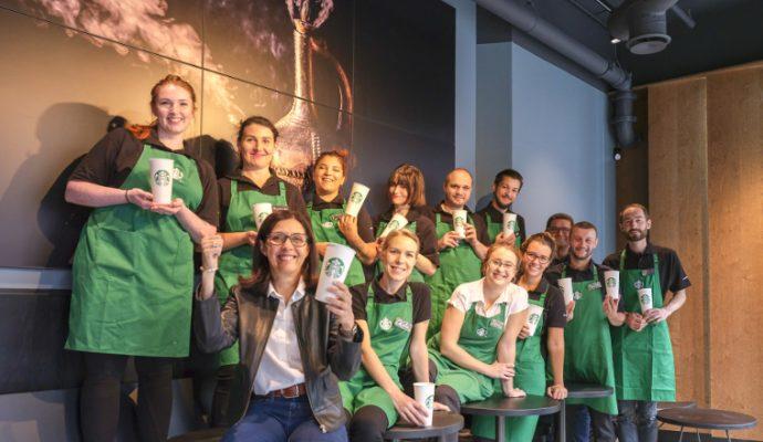Starbucks ouvre un salon à Fleur d'Eau