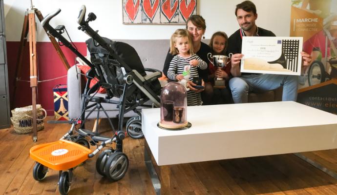 Poussette motorisée : l'invention d'un couple angevin primée au concours Lépine