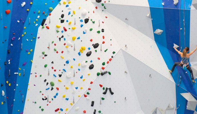 Un complexe d'escalade Climb Up au Moulin Marcille en 2019