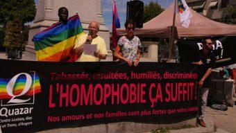 Un rassemblement prévu lundi contre les violences homophobes