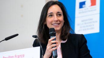 Brune Poirson, secrétaire d'Etat à la transition écologique dans le Maine-et-Loire le 4 juillet