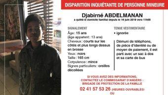 Un appel à témoins lancé après la disparition inquiétante d'un mineur à Angers