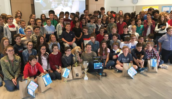 Les collégiens de St Augustin ont récolté 350 kilos de bouchons pour l'association Handi'Chiens