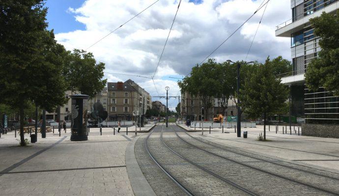 Aucun tramway ne circulera entre Avrillé et la place Molière durant l'été