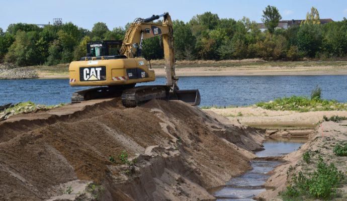 Des fouilles archéologiques en cours sur la Loire