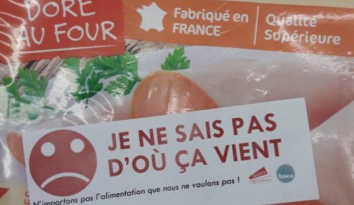 Les agriculteurs des JA et de la FDSEA réclament une meilleure traçabilité des produits