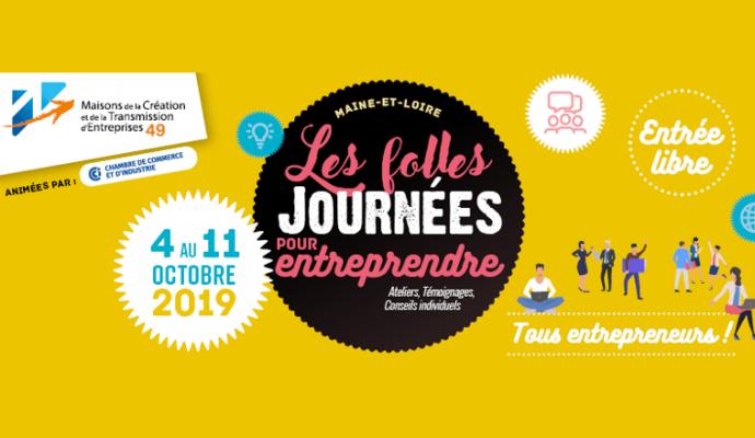 Les Folles Journées pour Entreprendre du 4 au 11 octobre 2019
