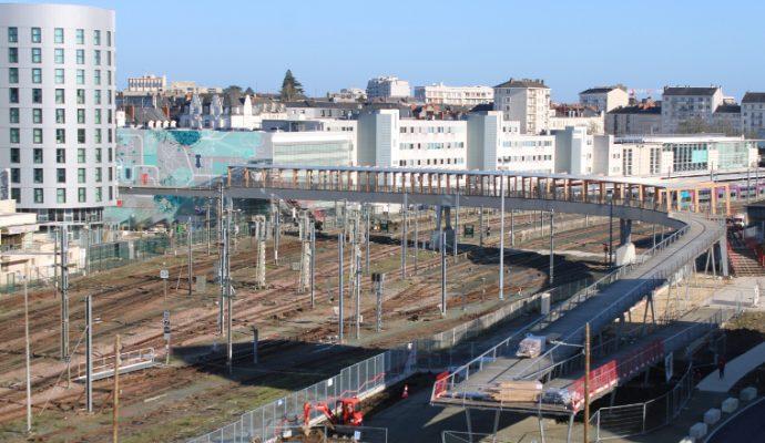 La nouvelle passerelle piétonne de la gare ouvre lundi 3 février