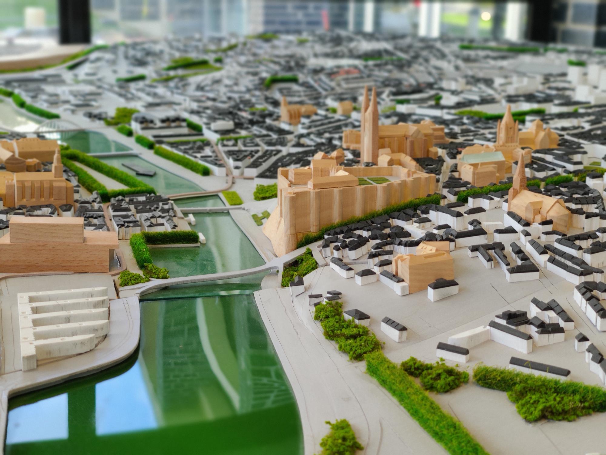 Maquette de la ville d'Angers