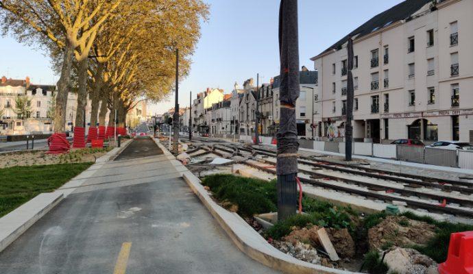 Les travaux d'aménagements autour de la nouvelle ligne de tramway reprennent
