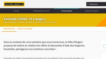 La ville d'Angers met en place une plateforme d'entraide
