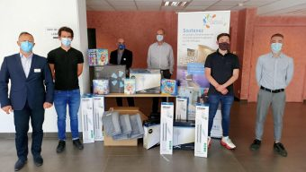 Le SCO Cyclisme Angers livre 1000€ de matériel au CHU