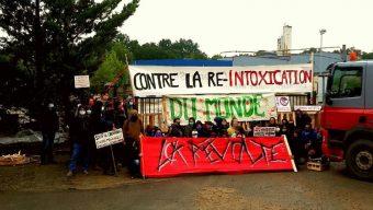 La bétonnerie Lafarge à Saint-Barthélemy d'Anjou bloquée depuis ce matin