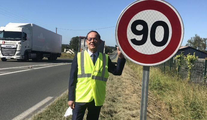 400 km de routes repassent à 90 km/h dans le Maine-et-Loire