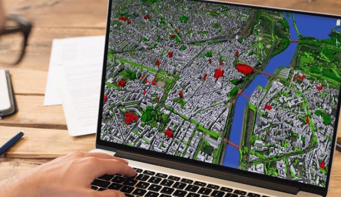 Territoire intelligent : la modélisation 3D d'Angers et de son agglomération est lancée
