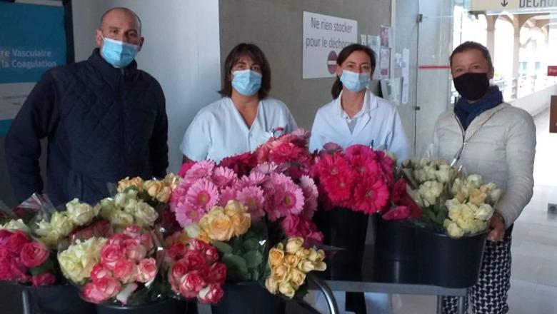 distribution fleurs CHU