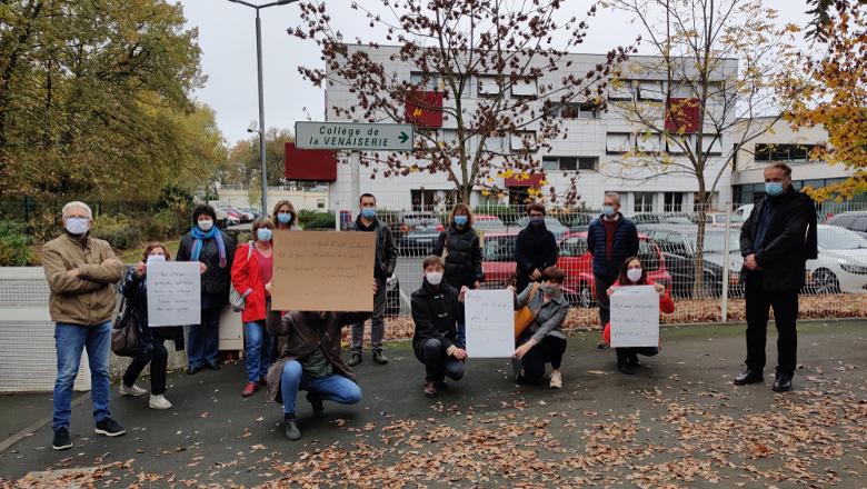 grève sanitaire - collège de la Venaiserie