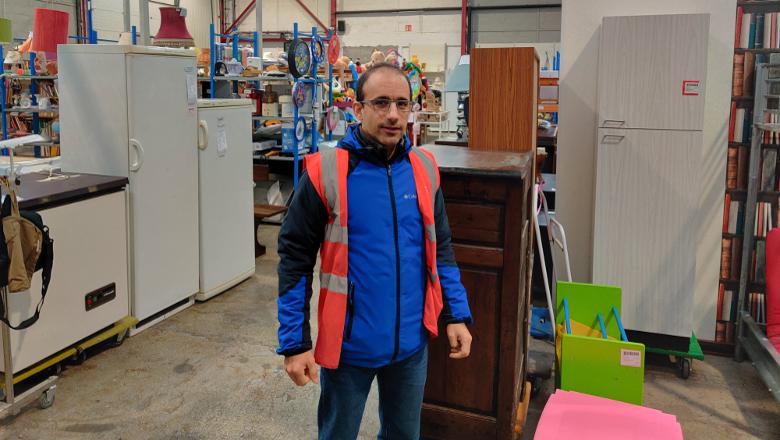 Benoît Akkaoui, directeur de la Ressourcerie des Biscottes