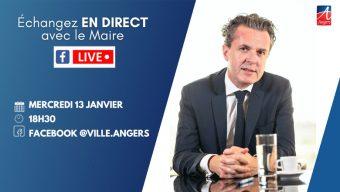 Le maire d'Angers organise un Facebook live ce mercredi 13 janvier à 18h30
