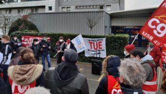 Une cinquantaine de personnes rassemblées contre la précarité étudiante