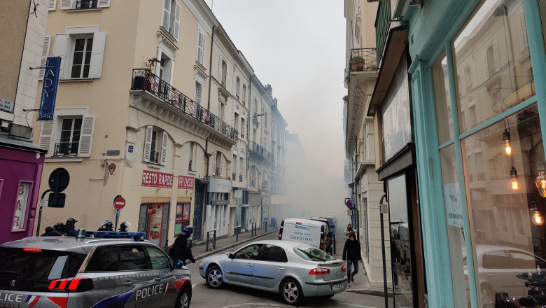 Manifestation loi sécurité globale rue du Mail