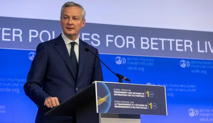 Bruno Le Maire, ministre de l'Economie, des Finances et de la Relance en Anjou ce mardi 9 février
