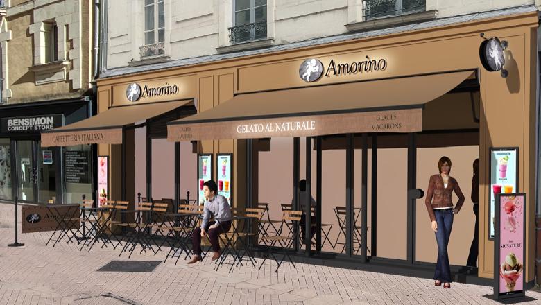 Façade Gelateria Tombini - Amorino Angers