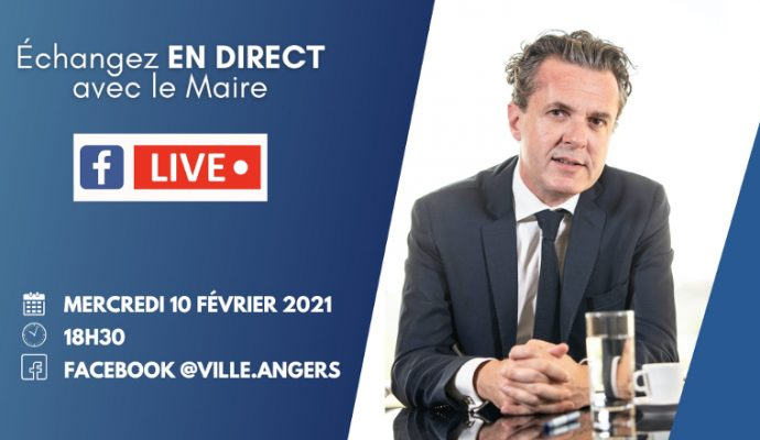 Le maire d'Angers répondra aux angevins à l'occasion d'un nouveau Facebook live