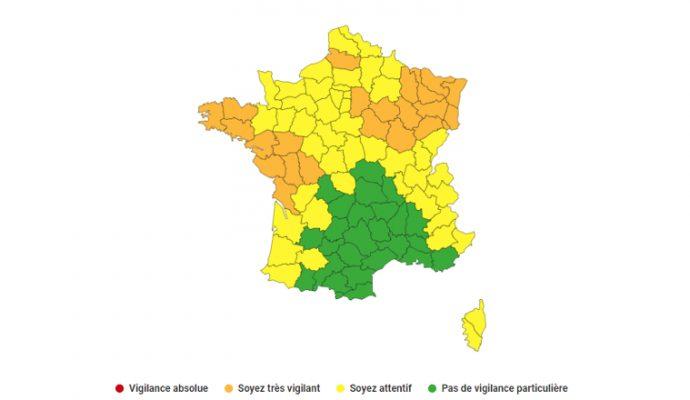 Le Maine-et-Loire en vigilance orange pour un épisode de pluies verglaçantes