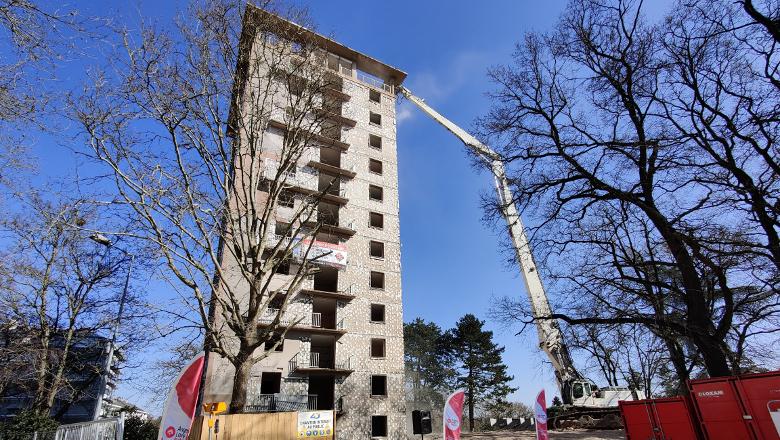 Démolition de la tour Boisramé