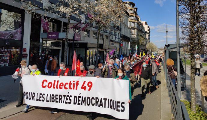 200 personnes opposées à la loi «sécurité globale» ont manifesté à Angers