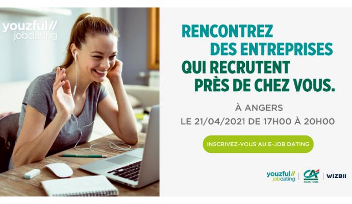 Un e-job dating pour l'emploi des jeunes à Angers organisé le 21 avril