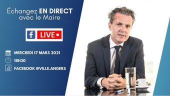 Un nouveau Facebook live organisé par le maire d'Angers