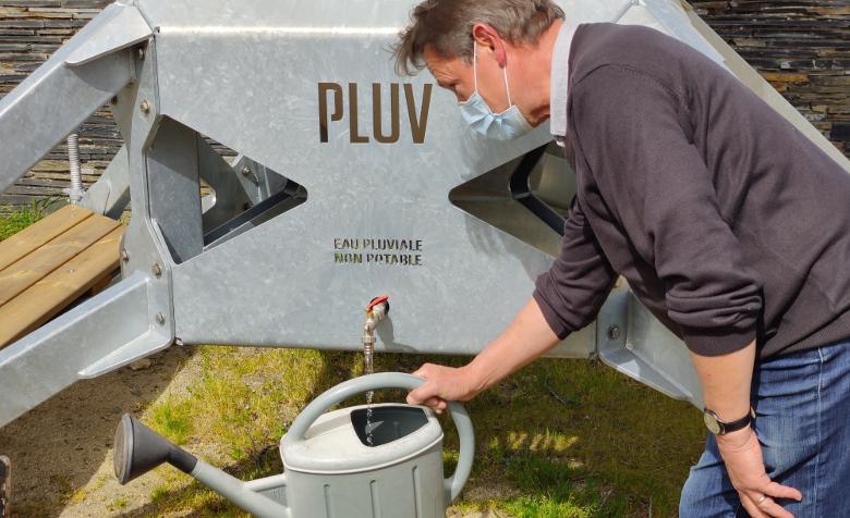 Récupérateur d'eau de pluie collectif - Budget participatif