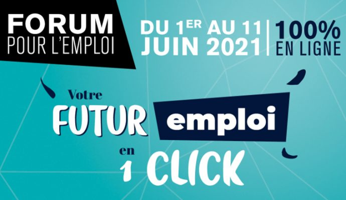 Plus de 100 entreprises recruteront en ligne au Forum pour l'emploi, du 1er au 11 juin 2021