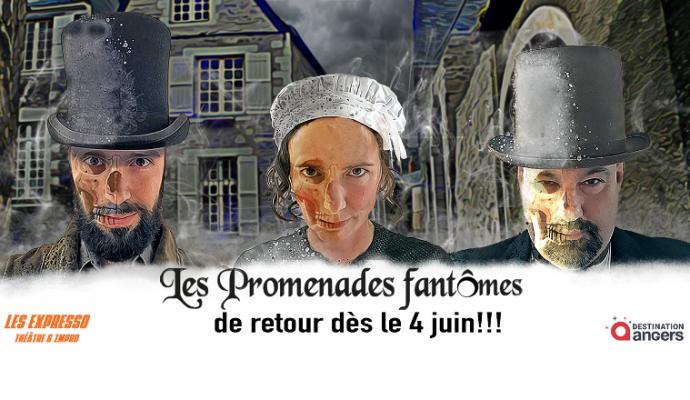 « Les Promenades fantômes » de la compagnie Les Expresso font leurs retours à Angers cet été