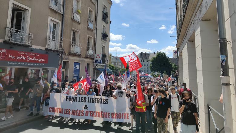 Manifestation contre l'extrême droite