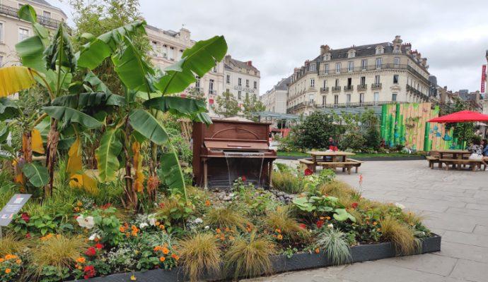 Un jardin éphémère sur la place du Ralliement pendant tout l'été